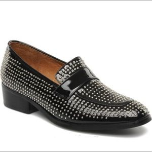 Jeffrey Campbell Black Vias Stud Womens Loafers
